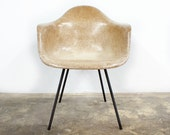 Early Production Charles Eames Herman Miller Shell Arm Chair Second Generation DAX - TheModernHistoric