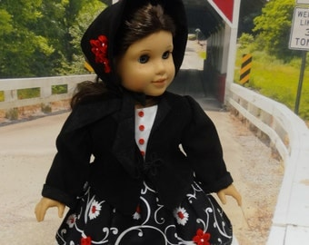 Antebellum Elegance- 1850's dress, jacket, bonnet and pantalettes for American Girl