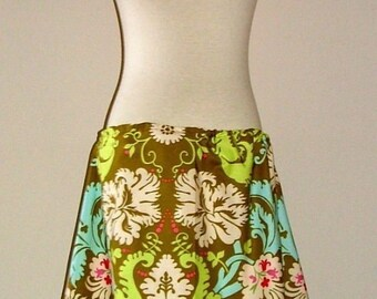 A-line SKIRT - Amy Butler - Acanthus - Made in ANY Size - Boutique Mia