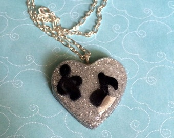 The Musical Heart Resin Necklace
