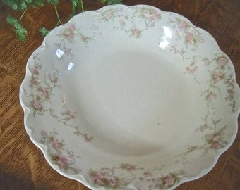 "BowL-VinTage ""JOHNSON BROS. ENGLAND"" China Bowl--pink floral pattern-loveLy"