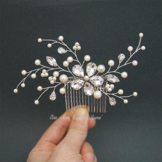 Wedding Hair Accessories Bridal Hiar Comb by adriajewelry ... - photo #27
