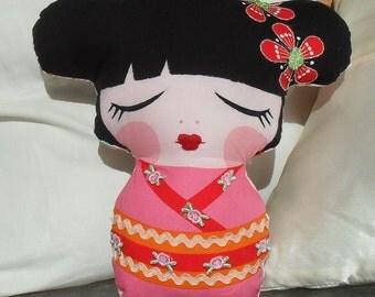 Sew Sunshine -Pillow doll- Mitsy-handmade