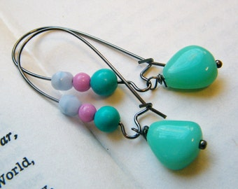 Turqoise -  Dangling Earrings