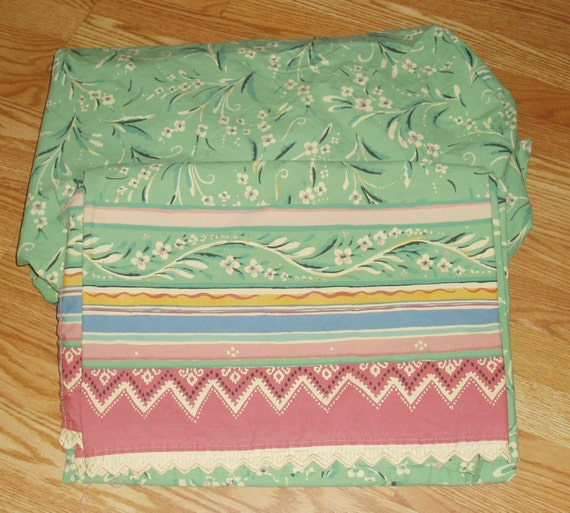 Gypsy Dance COLLIER CAMPBELL Full / Double Size Bed Sheets -- Vintage Flat and Fitted Sheet Set -- Rare and Discontinued / English Designers
