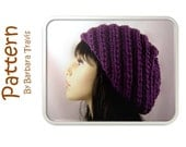 Knitting Pattern Spiral Chunky Slouch Beret