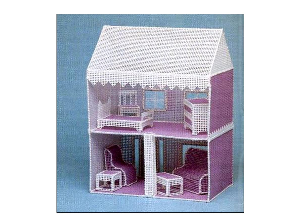 Plastic Canvas Dollhouse Pattern Easy Beginners Doll House And