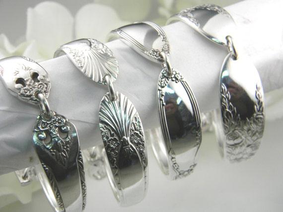 Bridesmaids Bracelets, Spoon Bracelets, Vintage Spoon Bracelets, Bridesmaids Gifts, Victorian Wedding, PERSONALIZED, Free Engraving