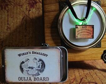 SALE !World's Smallest Ouija Board Pendant Antique Brass