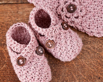 Crochet PATTERN - Baby Shoe and Hat Set