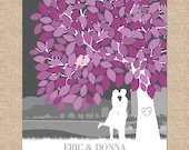 Wedding Guestbook Signature Tree // Personalized Guest Book Poster or Canvas // Wedding Keepsake Art // 175 Signature // W-T05-1PS HH3