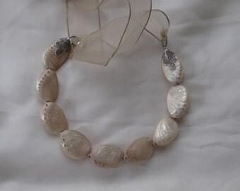 Handmade  wedding necklace , sea shell necklace. Brides, Bridesmaids necklace, bridal pendant