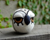 Cashmere and Mohair Felted Owl Egg Made to Order