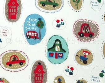 Cotton fabric, kids fabric, cars fabric, traffic fabric, Dutch fabric,Toot Toot Driving my Car