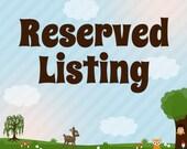 Reserved for Minka Lanell Tufts
