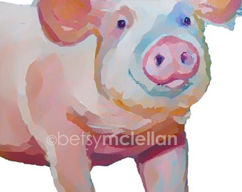 Pig - Graphic Style - Giclee Print