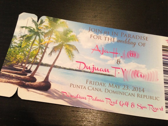Boarding Pass Invite Save The Date Magnet