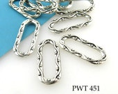 20mm Decorative Pewter Oblong Jump Ring Closed Connector Link 20mm x 9mm (PWT 451) 14 pcs BlueEchoBeads