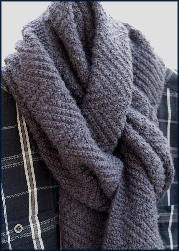 Lamberhurst Scarf Knitting Pattern Mens By Wyndlestrawdesigns