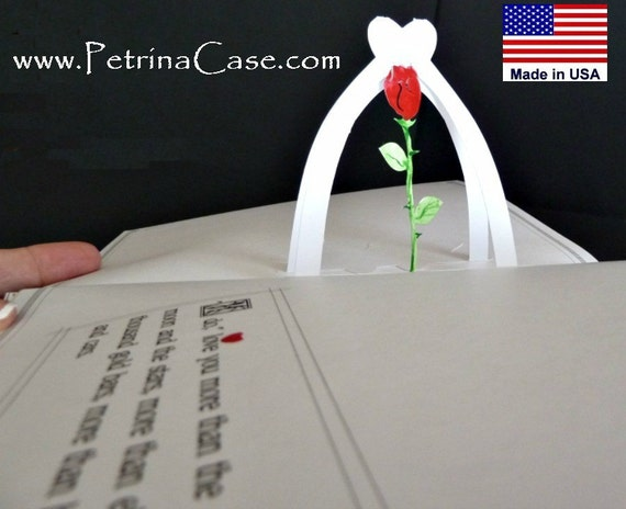 Pop-Up Book  Customized -USA Any Theme or Occasion ITEM PB98 - TWO popups