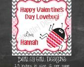 Love Bug Favor Tags - DIY - Digital FIle - Valentine's Day Tag