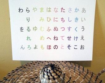 Japanese Hiragana Alphabet Poster 11x14