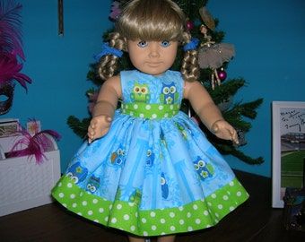 Owls on a Limb Dress for American Girl Doll