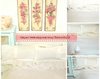 Shabby Style Comforter and Shams-Miniature Dollhouse Bedding