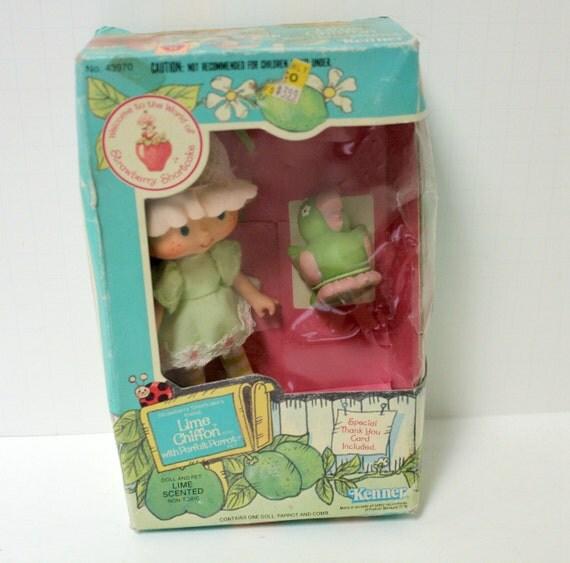Strawberry Shortcake Doll Lime Chiffon Scented Friend Sealed MIB ...