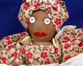 African American doll. Black Americana from the 1930's - 1940's. *FREE SHIPPING