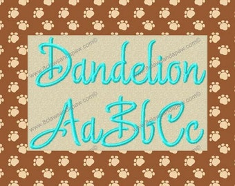 Dandelion Embroidery Font