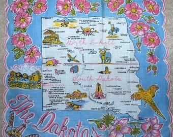 "Vintage ""The Dakotas"" Handkerchief"