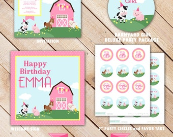 Deluxe BARNYARD GIRL Collection...Custom Printable Party Package...Personalized...by KM Thomas Designs