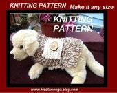 KNITTING PATTERN, Doggie Coat  number 101, Make it any size... use any size needles