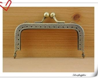 8.5cm  antique bronze purse frame, bag frame (purse making supplies) K11