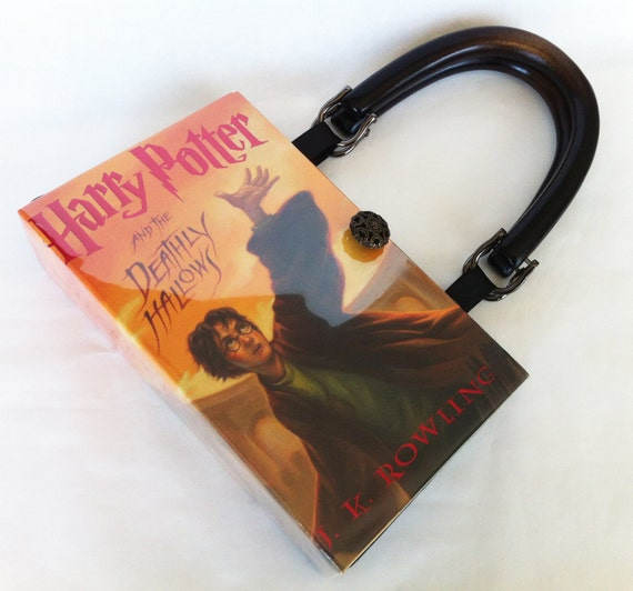 Harry Potter and The Deathly Hallows Book Purse - Harry Potter Book Cover Handbag - Deathly Hallows Book Clutch