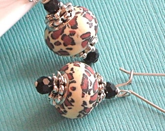 Leopard Print Earrings - Animal Jewelry