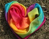 Rainbow Play Silk, 30x30 inches, Waldorf, Scarf, pretend play, dress up,