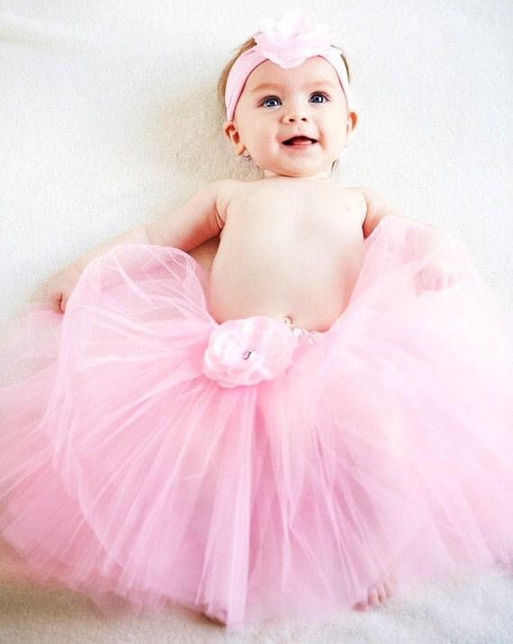 Light Pink Emma Baby Tutu & Matching Headband Set
