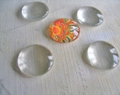 10...16mm Domed Glass Cabochons. Great for  Rings, and pendant settings.