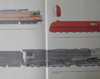 Large Print of Train Cars and Engines
