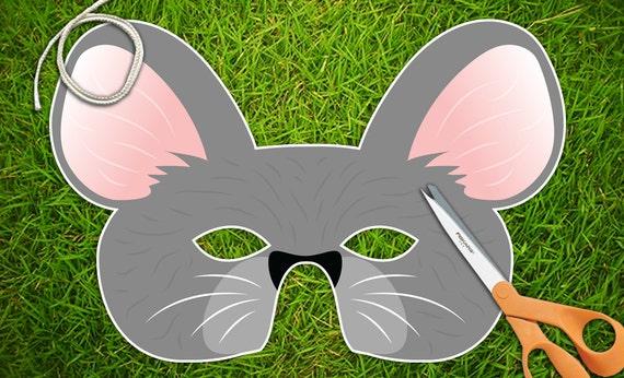 Mouse Party Mask, Halloween Mask, Printable PDF