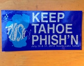 Phish Lake Tahoe Sticker 2013 Free Shipping