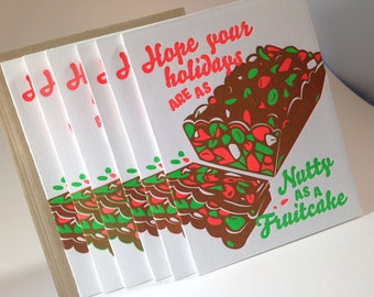 30 pack Nutty as a Fruitcake Holiday Card