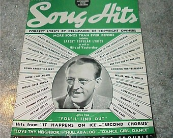 1941--Song Hits--Magazine--January--Song Lyrics--Collectible
