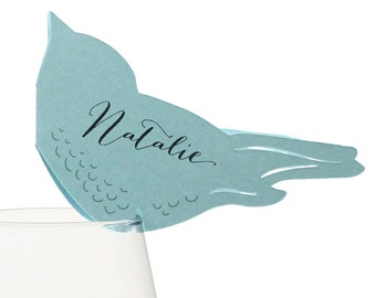 Love Bird Place Cards - wedding escort card, table number, seating chart, sign, favor, charming, sweet, bride & groom names