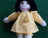 SALE-Hanna-Handmade Sock Doll