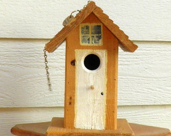 Eco -- Friendly Cedar Bird House with Clean Out