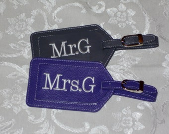 Allison's  Mr. and Mrs. Luggage Tags