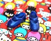 Blythe Medium Blue Shimmer Cute Mary Jane Doll shoes
